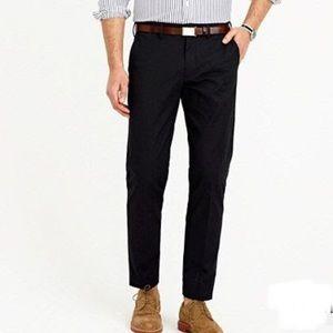 Men's J. Crew Bowery Pants Black Slim Size 34/34